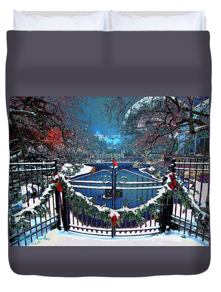 Winter Garden Duvet Cover by Michael Rucker