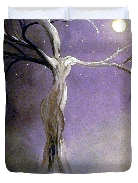 Winter Goddess II Duvet Cover by Alys Caviness-Gober