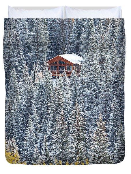 Winter Hideaway Duvet Cover