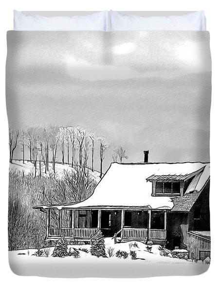 Winter Home Duvet Cover by John Haldane