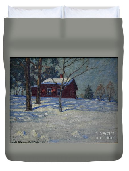 Winter House Duvet Cover