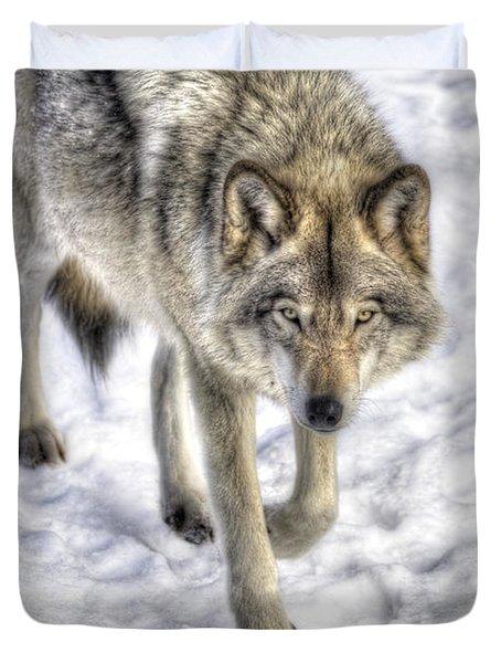 Winter Hunter Duvet Cover