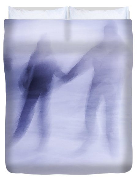 Winter Illusions On Ice - Series 1 Duvet Cover