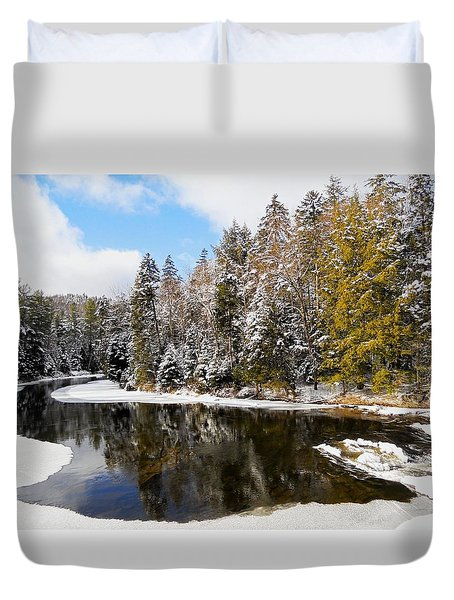 Duvet Cover featuring the photograph Winter Impressions ... by Juergen Weiss