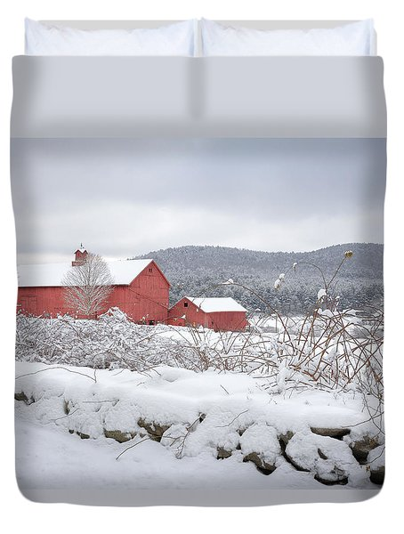 Winter In Connecticut Duvet Cover