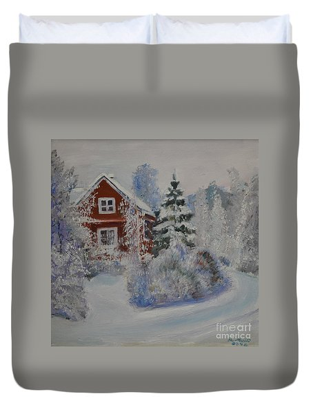 Winter In Finland Duvet Cover