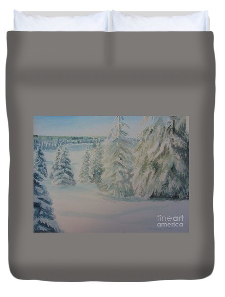 Winter In Gyllbergen Duvet Cover by Martin Howard