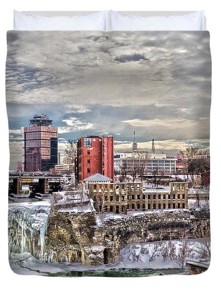 Winter In Rochester Duvet Cover