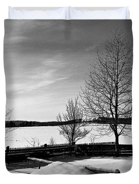 Winter In Roztocze Duvet Cover by Tomasz Dziubinski