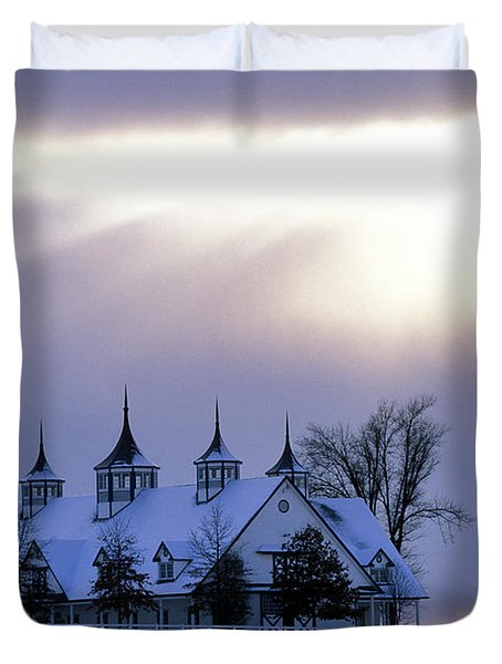Winter In The Bluegrass - Fs000286 Duvet Cover by Daniel Dempster