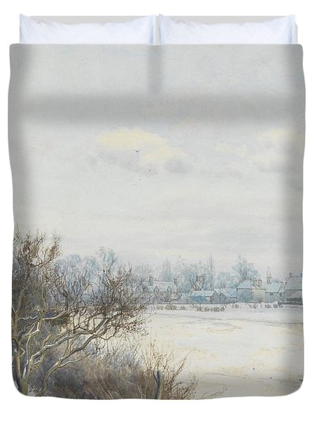 Winter In The Ouse Valley Duvet Cover by William Fraser Garden