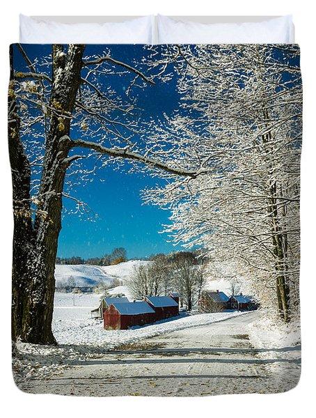 Winter In Vermont Duvet Cover