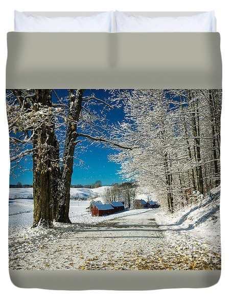 Winter In Vermont Duvet Cover