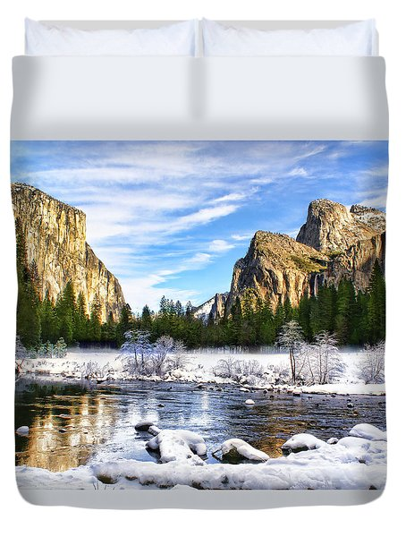 Winter In Yosemite Duvet Cover