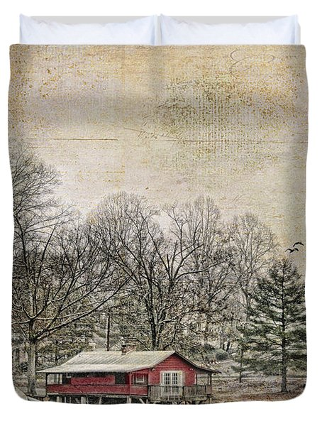 Winter Lake Duvet Cover by Darren Fisher