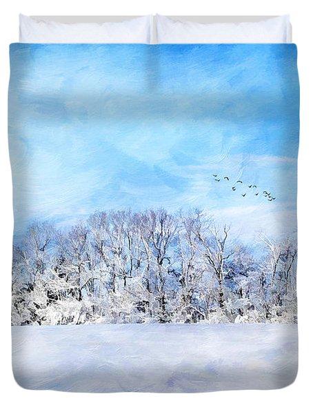 Winter Landscape Duvet Cover by Darren Fisher