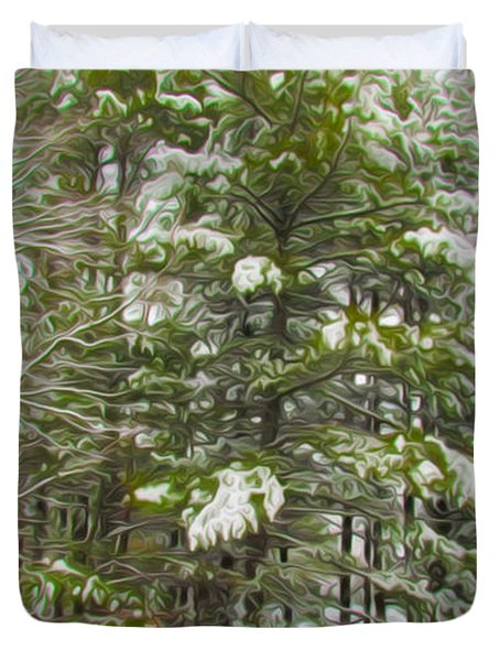 Winter Landscapes Duvet Cover by Lanjee Chee