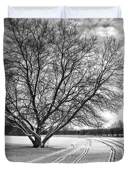 Winter Lines Duvet Cover by Lauri Novak