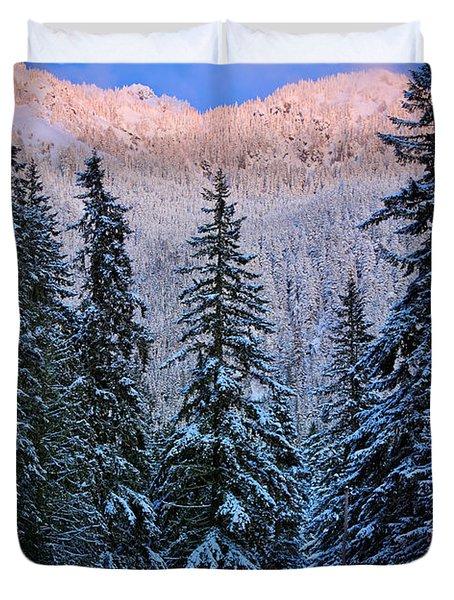 Winter Lodging Duvet Cover by Inge Johnsson