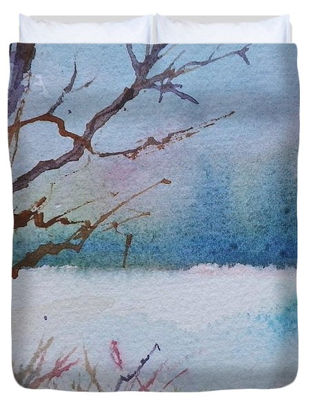 Winter Loneliness Duvet Cover by Anna Ruzsan