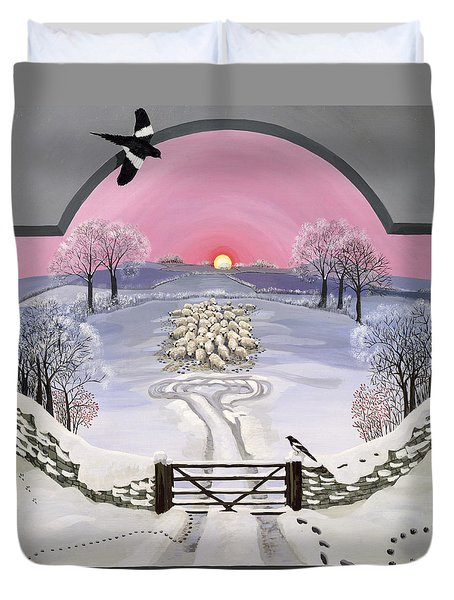 Winter Duvet Cover by Maggie Rowe