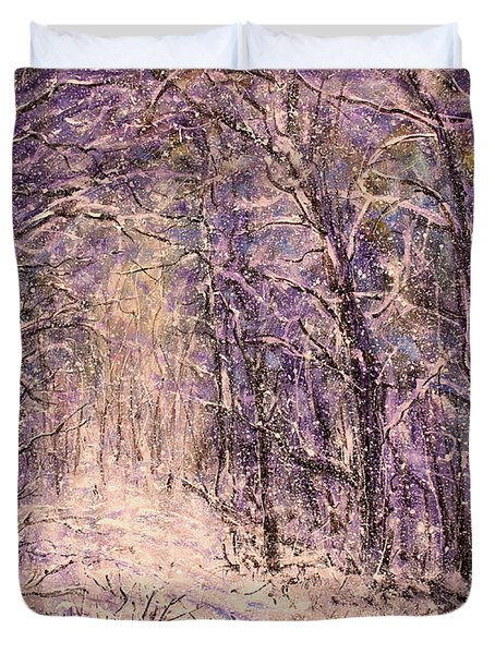 Winter Magic Duvet Cover by Natalie Holland