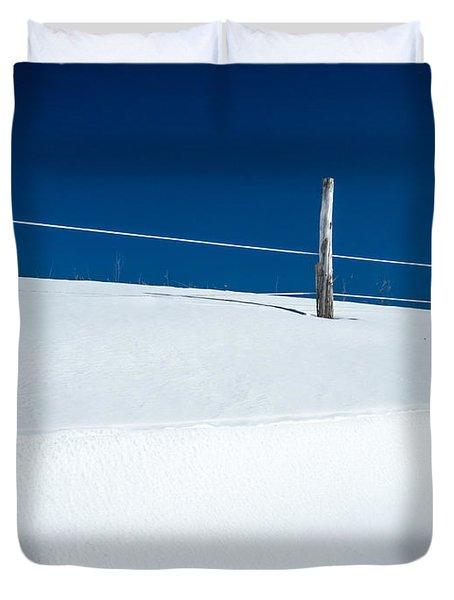 Winter Minimalism Duvet Cover