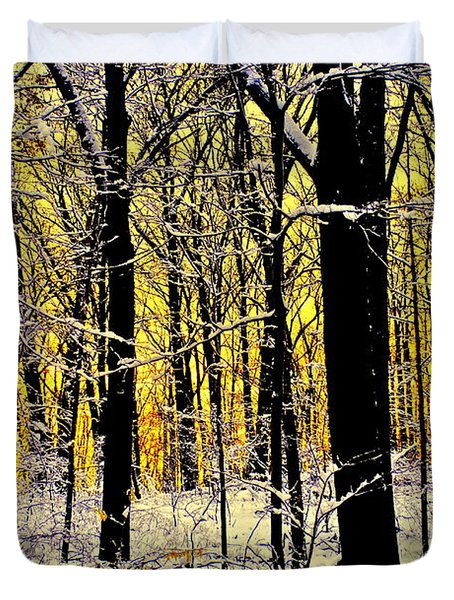 Winter Mood Lighting Duvet Cover by Frozen in Time Fine Art Photography