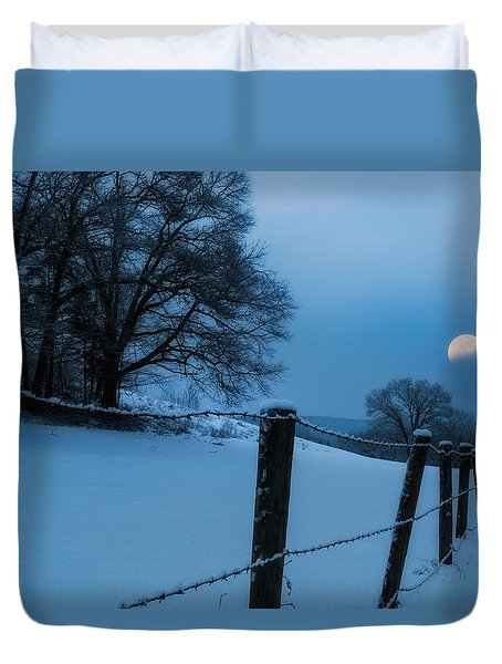 Winter Moon Duvet Cover by Bill Wakeley
