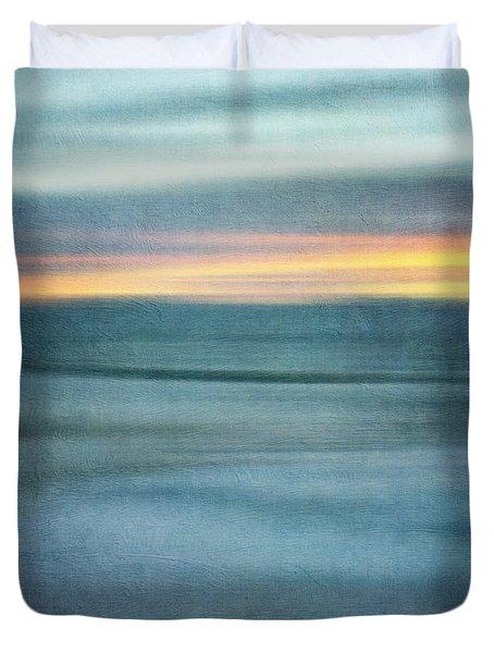 Winter Morning Poem Duvet Cover
