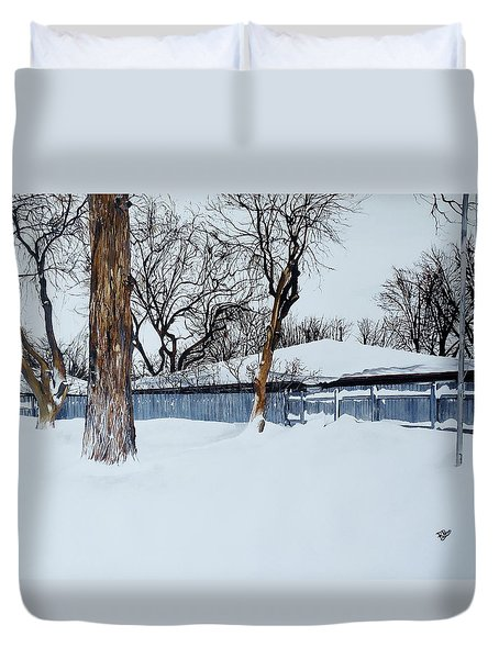 Winter Morning Duvet Cover by Raymond Perez