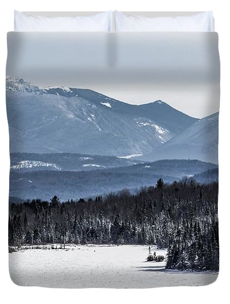 Winter Mountains Duvet Cover by Tim Kirchoff