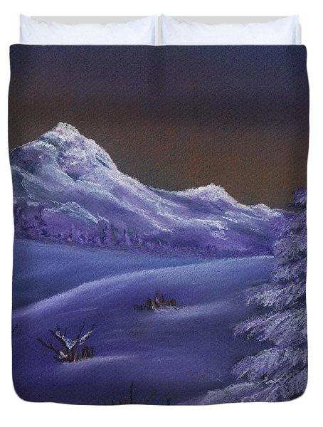 Winter Night Duvet Cover by Anastasiya Malakhova