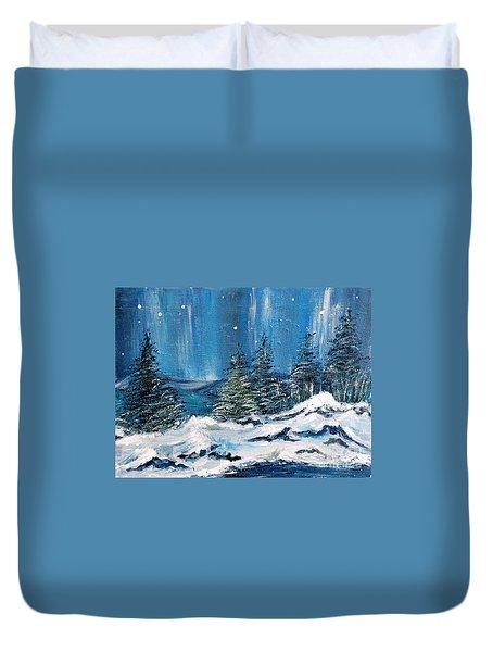 Winter Night Duvet Cover by Teresa Wegrzyn