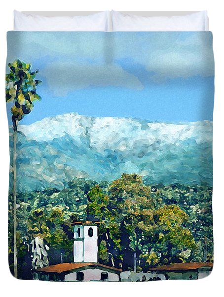 Winter Paradise Santa Barbara Duvet Cover