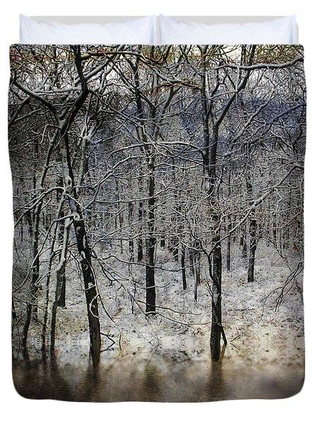 Winter Pond Duvet Cover