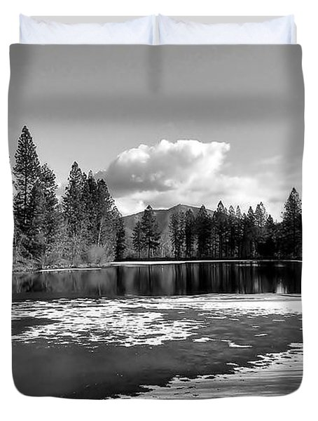 Duvet Cover featuring the photograph Winter Pond by Julia Hassett