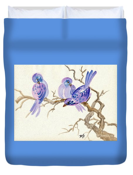 Winter Purple Delight Duvet Cover