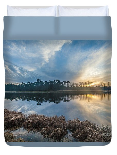 Winter Reflection-1 Duvet Cover