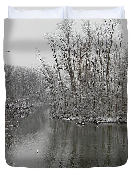 Winter Reflections 1 Duvet Cover