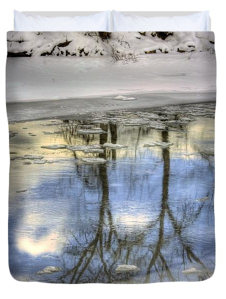 Winter Reflections Duvet Cover by John  Greaves