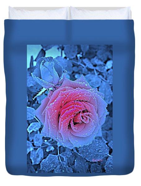 Winter-rose Duvet Cover