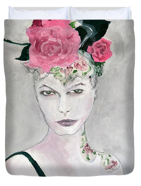 Winter Roses 2 Duvet Cover
