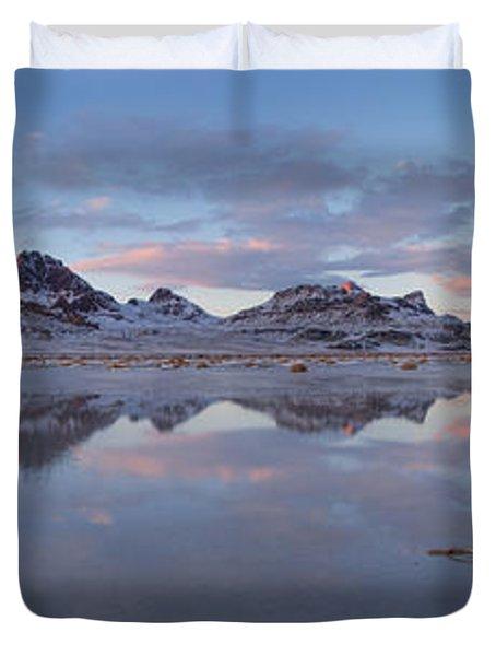 Winter Salt Flats Duvet Cover