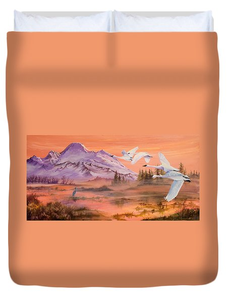 Winter Sanctuary Duvet Cover by Sherry Shipley