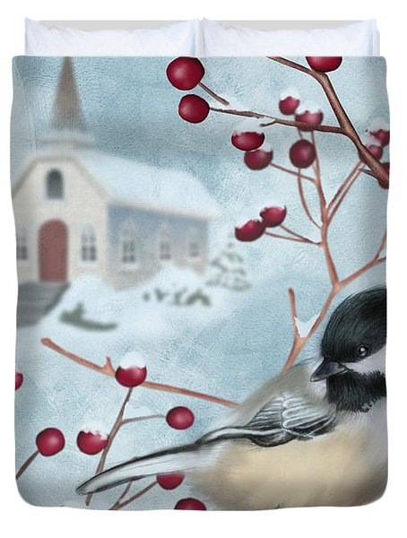 Winter Scene I Duvet Cover