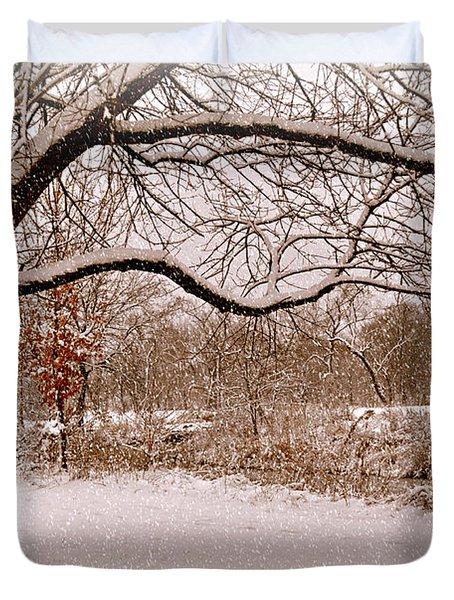 Winter Scene Duvet Cover by Marty Koch