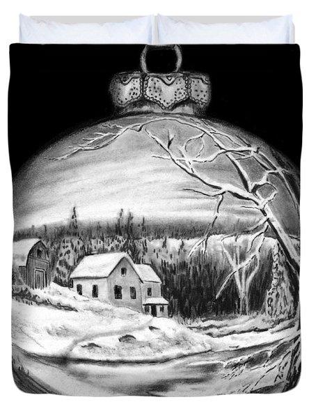 Winter Scene Ornament Duvet Cover by Peter Piatt