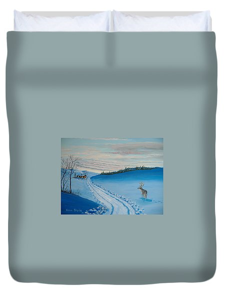 Winter Sentinel Duvet Cover by Norm Starks