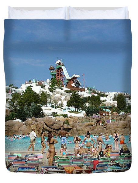 Duvet Cover featuring the photograph Winter Shore Line by David Nicholls
